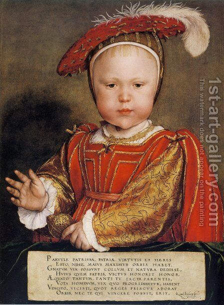 Portrait of Edward, Prince of Wales c. 1539 by Hans, the Younger Holbein - Reproduction Oil Painting