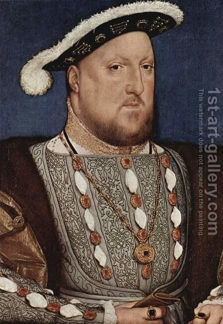 Portrait of Henry VIII 1536 by Hans, the Younger Holbein - Reproduction Oil Painting