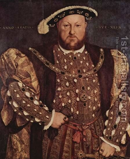 Portrait of Henry VIII 1540 by Hans, the Younger Holbein - Reproduction Oil Painting