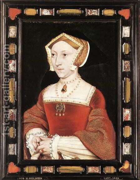 Portrait of Jane Seymour c. 1537 by Hans, the Younger Holbein - Reproduction Oil Painting