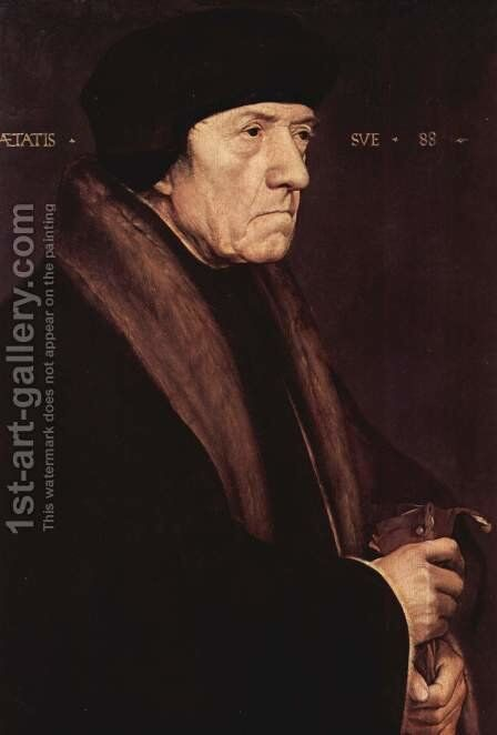 Portrait of John Chambers 1543 by Hans, the Younger Holbein - Reproduction Oil Painting