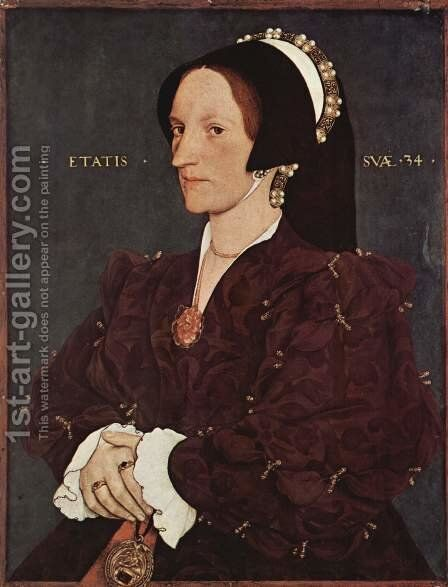 Portrait of Margaret Wyatt, Lady Lee, c. 1540 by Hans, the Younger Holbein - Reproduction Oil Painting