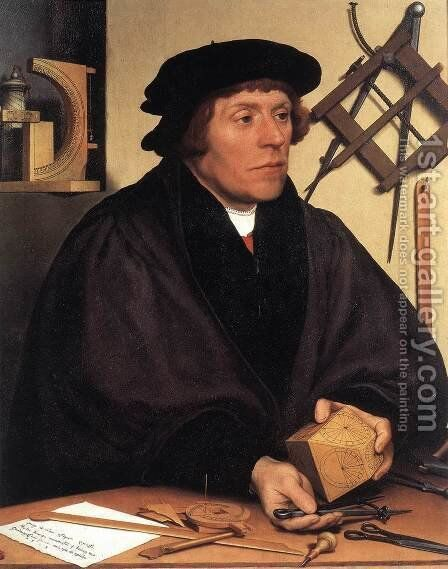 Portrait of Nikolaus Kratzer 1528 by Hans, the Younger Holbein - Reproduction Oil Painting