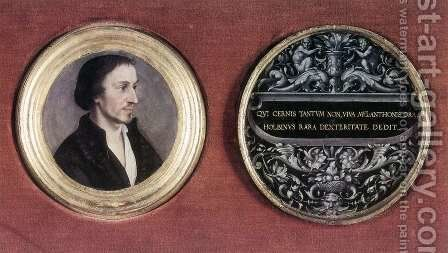 Portrait of Philipp Melanchthon c. 1535 by Hans, the Younger Holbein - Reproduction Oil Painting