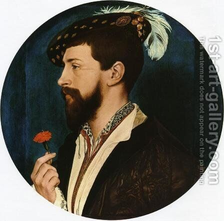 Portrait of Simon George  1536-37 by Hans, the Younger Holbein - Reproduction Oil Painting