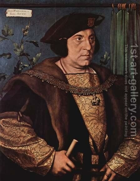 Portrait of Sir Henry Guildford 1527 by Hans, the Younger Holbein - Reproduction Oil Painting