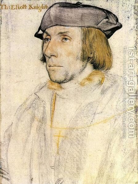 Sir Thomas Elyot  1532-33 by Hans, the Younger Holbein - Reproduction Oil Painting