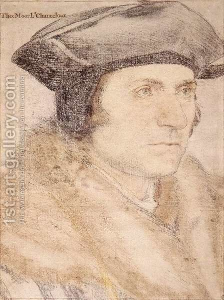 Sir Thomas More 1527-28 by Hans, the Younger Holbein - Reproduction Oil Painting