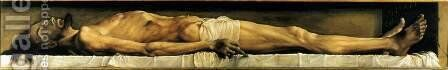 The Body of the Dead Christ in the Tomb 1521 by Hans, the Younger Holbein - Reproduction Oil Painting