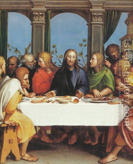 The Last Supper 1524-25 by Hans, the Younger Holbein - Reproduction Oil Painting