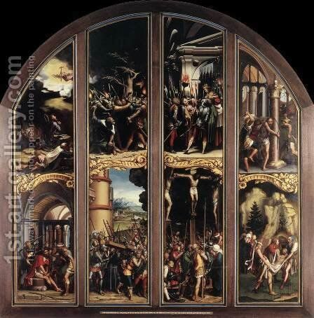 The Passion 1524-25 by Hans, the Younger Holbein - Reproduction Oil Painting