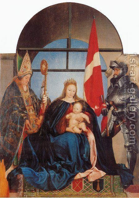 The Solothurn Madonna 1522 by Hans, the Younger Holbein - Reproduction Oil Painting