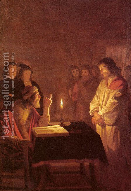 Christ before the High Priest c. 1617 by Gerrit Van Honthorst - Reproduction Oil Painting