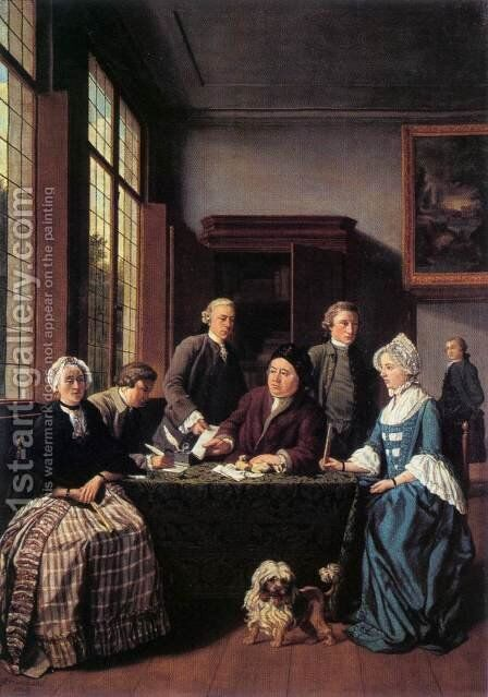 The Marriage Contract 1768 by Jan Jozef, the Younger Horemans - Reproduction Oil Painting
