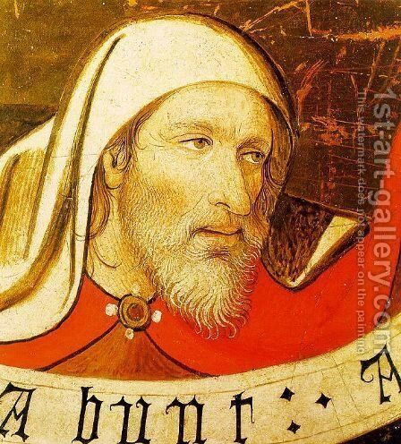 Head of a Prophet  (fragment of a lost alterpiece) 1435 by Jaume Huguet - Reproduction Oil Painting