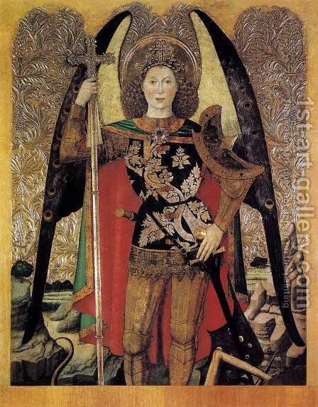 The Archangel St Michael 1456 by Jaume Huguet - Reproduction Oil Painting