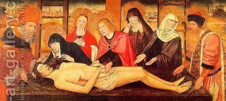 The Lamentation of Christ by Jaume Huguet - Reproduction Oil Painting