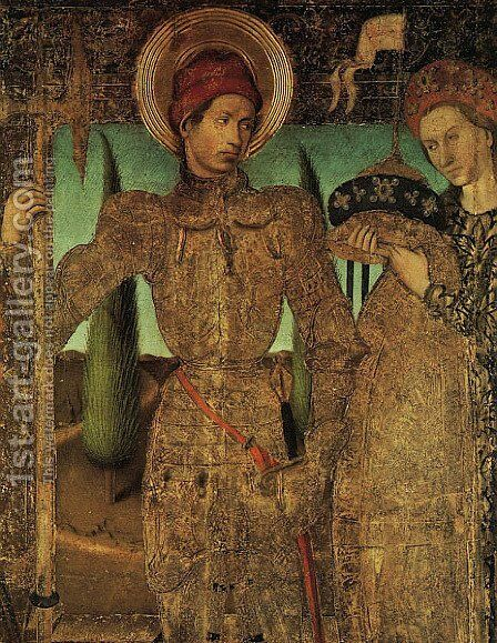 Triptych of Saint George 1459-60 by Jaume Huguet - Reproduction Oil Painting