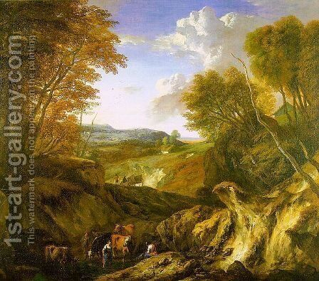 Forested Landscape by Cornelis Huysmans - Reproduction Oil Painting