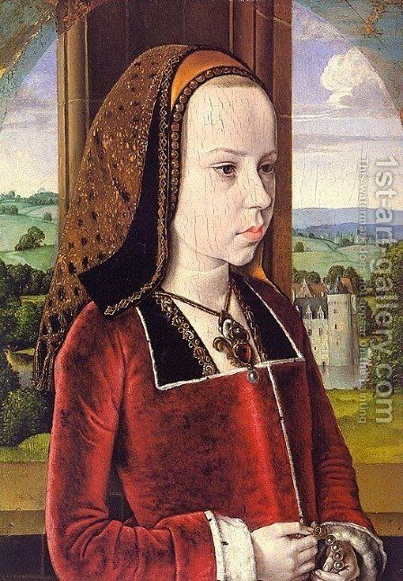 Portrait of Margaret of Austria (Portrait of a Young Princess)  1490-91 by Master of Moulins  (Jean Hey) - Reproduction Oil Painting