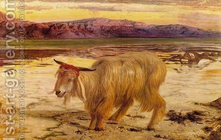 The Scapegoat  1854 by William Holman Hunt - Reproduction Oil Painting
