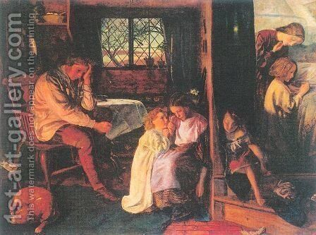 Bedtime 1861-62 by Arthur Hughes - Reproduction Oil Painting