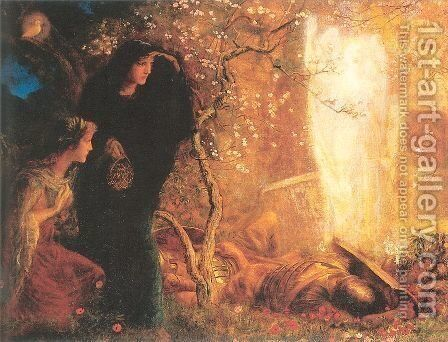 He is Risen- The First Easter 1893-96 by Arthur Hughes - Reproduction Oil Painting