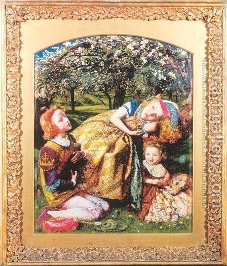 The King's Orchard 1857-58, retouched in 1859 by Arthur Hughes - Reproduction Oil Painting