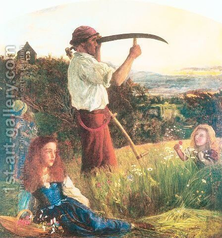 The Mower 1861-65 by Arthur Hughes - Reproduction Oil Painting