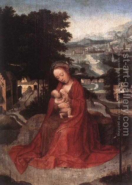 Rest during the Flight to Egypt by Adriaen Isenbrandt (Ysenbrandt) - Reproduction Oil Painting