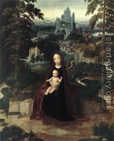 Rest during the Flight to Egypt 2 by Adriaen Isenbrandt (Ysenbrandt) - Reproduction Oil Painting