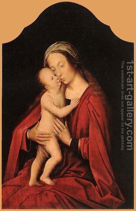 Virgin and Child 1520s by Adriaen Isenbrandt (Ysenbrandt) - Reproduction Oil Painting