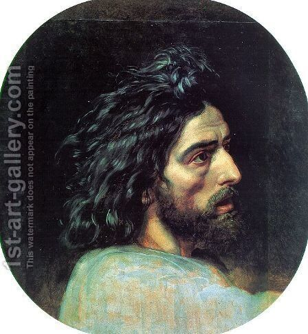 """John the Baptist's Head (study for the picture """"The Appearance of Christ before the People"""" by Alexander Ivanov - Reproduction Oil Painting"""