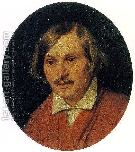 Portrait of Nikolai Gogol  1841 by Alexander Ivanov - Reproduction Oil Painting
