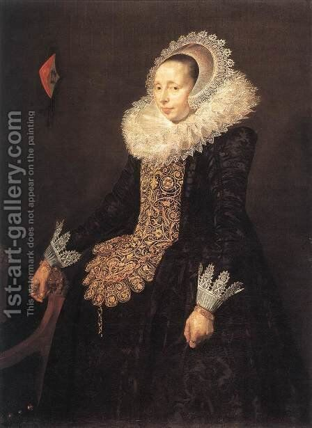 Catharina Both van der Eem c. 1620 by Frans Hals - Reproduction Oil Painting