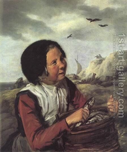 Fisher Girl  1630-32 by Frans Hals - Reproduction Oil Painting
