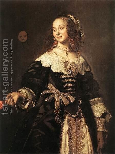 Isabella Coymans  1650-52 by Frans Hals - Reproduction Oil Painting