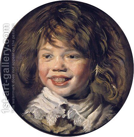 Laughing Child  1620-25 by Frans Hals - Reproduction Oil Painting