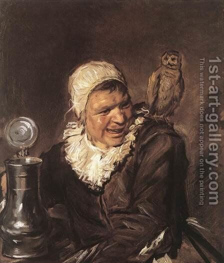 Malle Babbe  1633-35 by Frans Hals - Reproduction Oil Painting