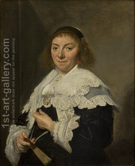 Maria Pietersdochter Olycan by Frans Hals - Reproduction Oil Painting