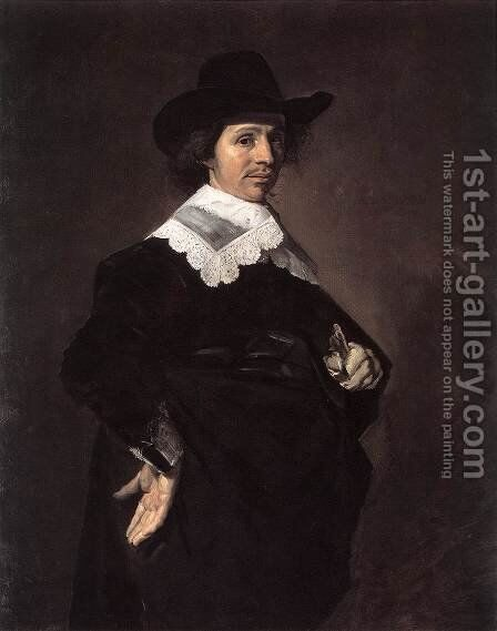 Paulus Verschuur 1643 by Frans Hals - Reproduction Oil Painting