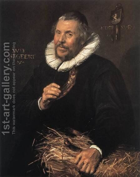 Pieter Cornelisz van der Morsch  1616 by Frans Hals - Reproduction Oil Painting