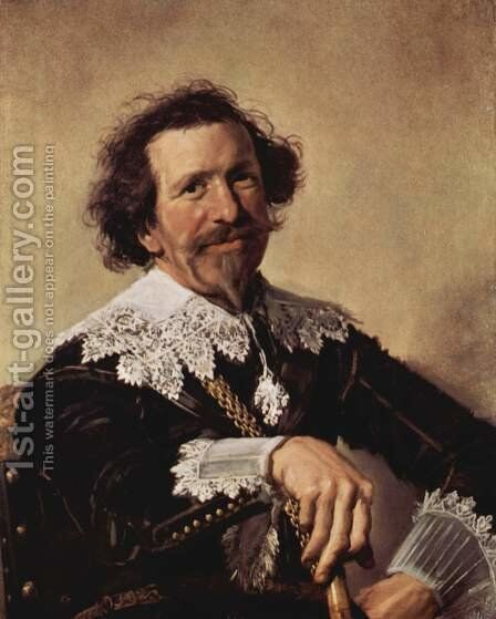 Pieter van den Broecke  c. 1633 by Frans Hals - Reproduction Oil Painting