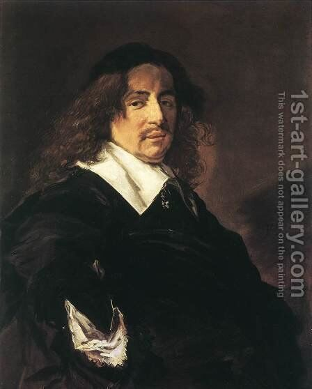 Portrait of a Man  1650-53 by Frans Hals - Reproduction Oil Painting