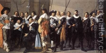 The Meagre Company  1633-37 by Frans Hals - Reproduction Oil Painting