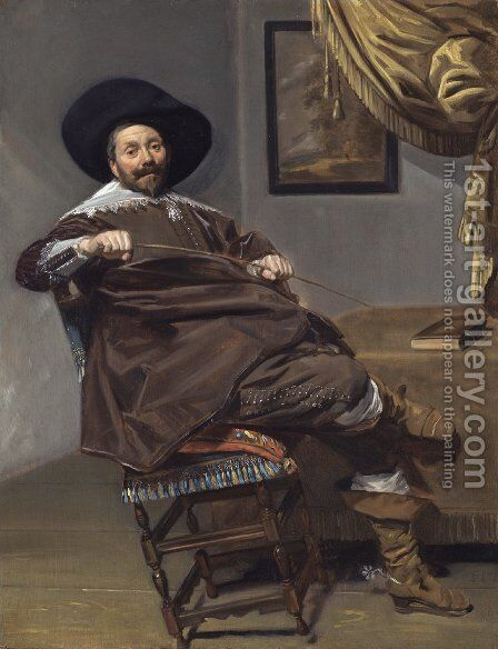 Willem van Heythuysen  c. 1638 by Frans Hals - Reproduction Oil Painting