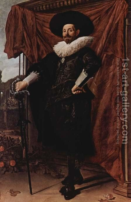 Willem van Heythuyzen  c. 1625 by Frans Hals - Reproduction Oil Painting