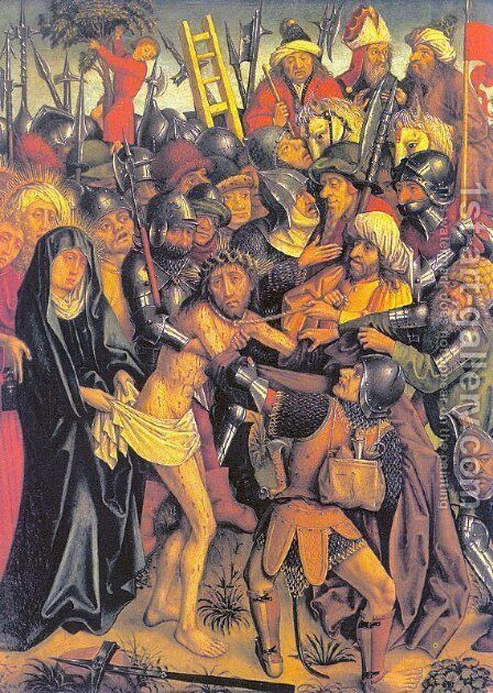 Christ Taken to Golgotha  1480 by Master of the Karlsruhe Passion - Reproduction Oil Painting