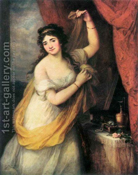 Portrait of a Woman  1795 by Angelica Kauffmann - Reproduction Oil Painting