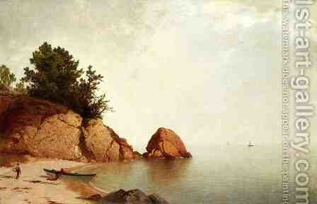 Beach at Beverly  1869-72 by John Frederick Kensett - Reproduction Oil Painting